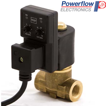 Powerflow Complete Drain Valve with Vertical Timer with a Lead