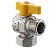 Angled Gas Valves for Boilers